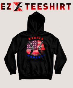 Double Threat Two Guns American Flag Helmet Hoodie