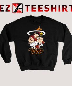 Peanut characters mashup Miami Heat Sweatshirt