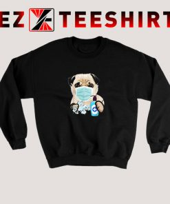 Pug Dog Lover Face Mask Gift Sweatshirt