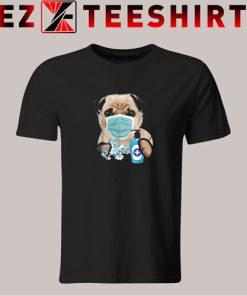 Pug Dog Lover Face Mask Gift Tshirt