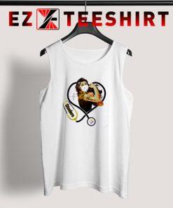 Strong Nurse Pittsburgh Steelers Stethoscope Tank Top 247x296 - EzTeeShirt Ezy Buy Clothing Store