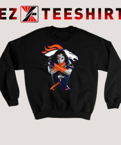 Wonder Woman And Denver Broncos Sweatshirt