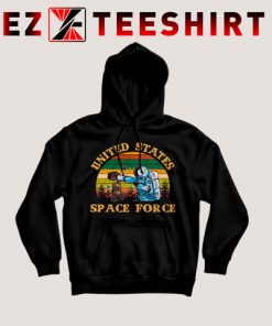 Alien United States Space Force Retro Hoodie