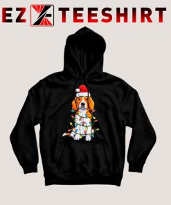 Beagle Christmas Xmas Lights Hoodie