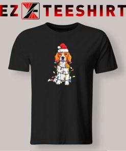 Beagle Christmas Xmas Lights T-Shirt