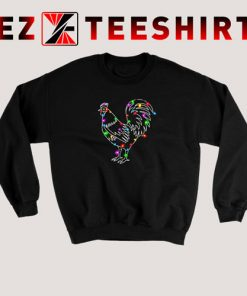 Christmas Lights Rooster Sweatshirt