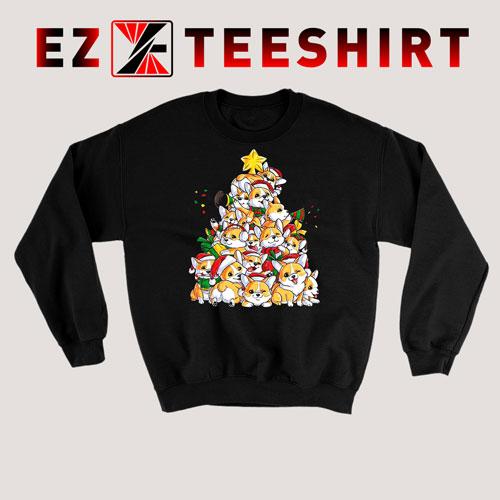 Corgi Christmas Tree Sweatshirt