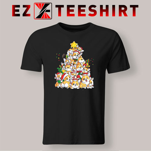 Corgi Christmas Tree T-Shirt