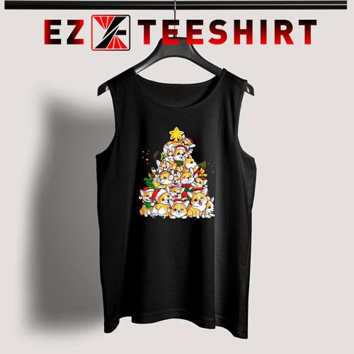 Corgi Christmas Tree Tank Top