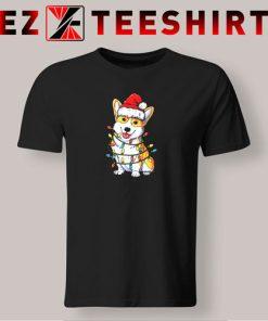 Corgi Christmas Xmas Lights T-Shirt