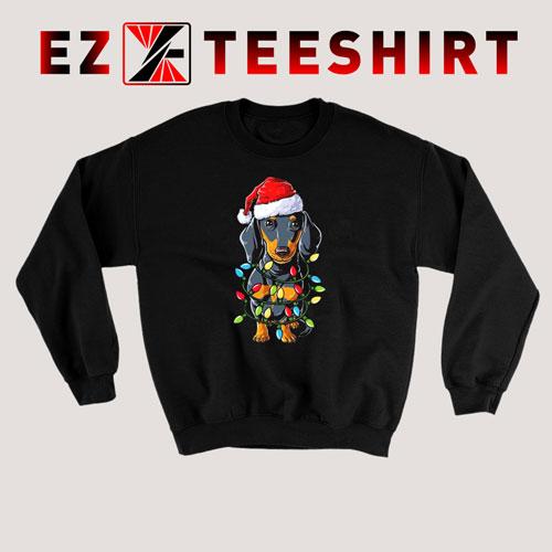 Dachshund Christmas Xmas Lights Sweatshirt