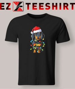 Dachshund Christmas Xmas Lights T Shirt 247x296 - EzTeeShirt Ezy Buy Clothing Store