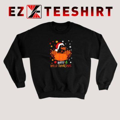 Dachshund Happy Hallothanksmas Sweatshirt
