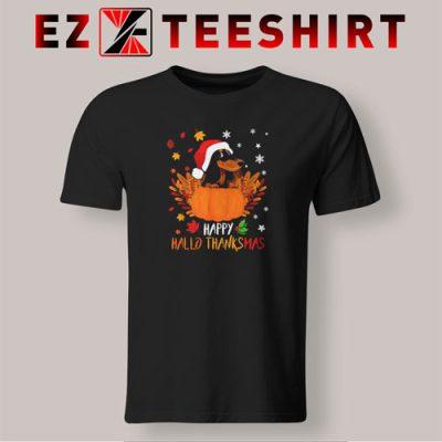 Dachshund Happy Hallothanksmas T-Shirt