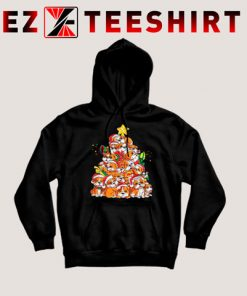 English Bulldog Christmas Tree Hoodie