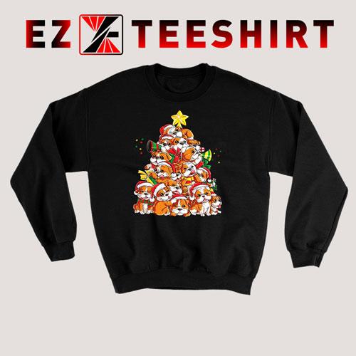 English Bulldog Christmas Tree Sweatshirt