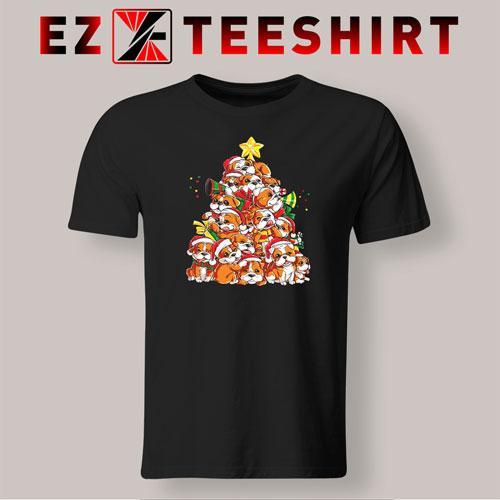English Bulldog Christmas Tree T-Shirt