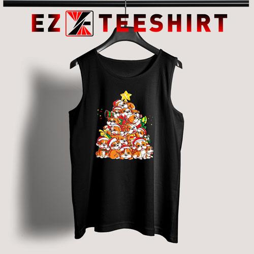 English Bulldog Christmas Tree Tank Top