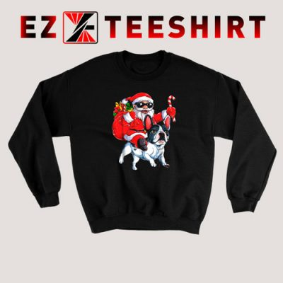 French Bulldog Christmas Santa Claus Woofmas Dog Sweatshirt