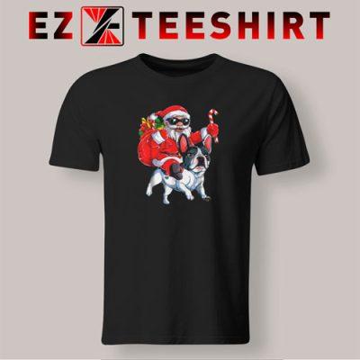 French Bulldog Christmas Santa Claus Woofmas Dog T-Shirt