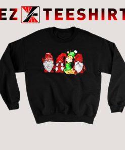 Giraffe And Gnomies Christmas Sweatshirt