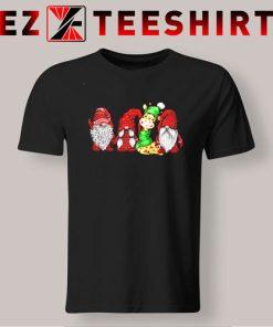Giraffe And Gnomies Christmas T-Shirt