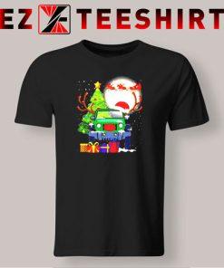Jeep and Santa Claus Christmas Tree Merry Christmas T-Shirt