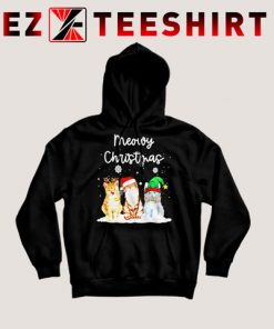 Meowy Christmas Cats Hoodie