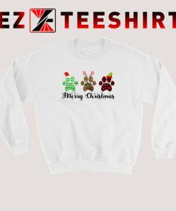 Merry Christmas Paw Sweatshirt