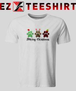 Merry Christmas Paw T-Shirt