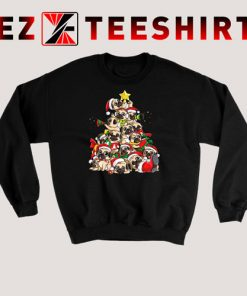 Pug Christmas Tree Sweatshirt