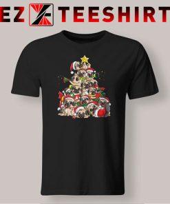 Pug Christmas Tree T-Shirt