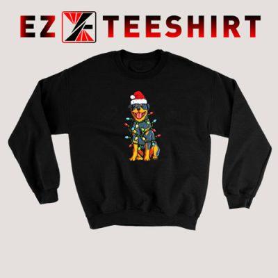 Rottweiler Christmas Xmas Lights Sweatshirt