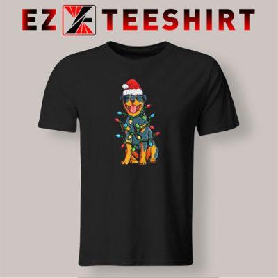 Rottweiler Christmas Xmas Lights T-Shirt