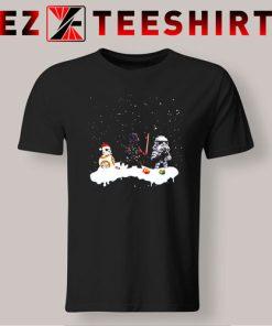 Santa Darth Vader Star Wars Stormtrooper Ugly Christmas T-Shirt