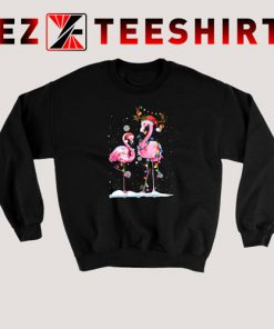 Santa Reindeer Flamingo Christmas Sweatshirt