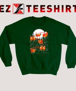 Satan Riding Chicken Merry Christmas Sweatshirt