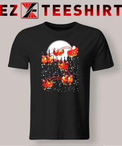 Satan Riding Chicken Merry Christmas T-Shirt