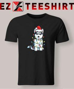 Siberian Husky Christmas Tree T-Shirt