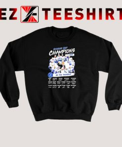 Stanley Cup Champions 2020 Be The Thunder Signatures Sweatshirt