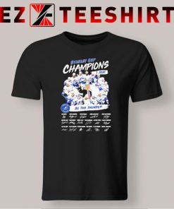 Stanley Cup Champions 2020 Be The Thunder Signatures T-Shirt