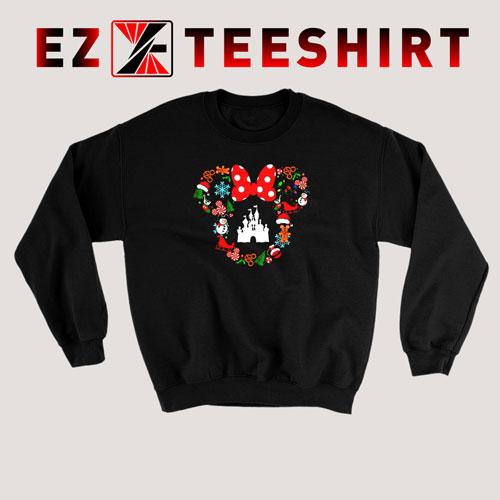 Minnie Head Castle Disney Christmas Sweatshirt