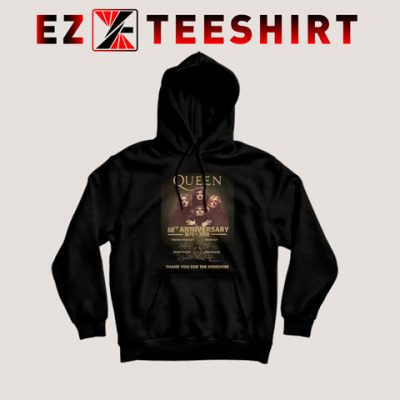 Queen 50th Anniversary 1970 2020 Hoodie 400x400 - EzTeeShirt Ezy Buy Clothing Store