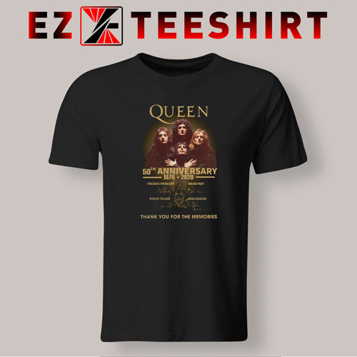 Queen 50th Anniversary 1970-2020 T-Shirt