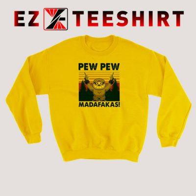 Sloth Pew Pew Madafakas Vintage Sweatshirt 400x400 - EzTeeShirt Ezy Buy Clothing Store