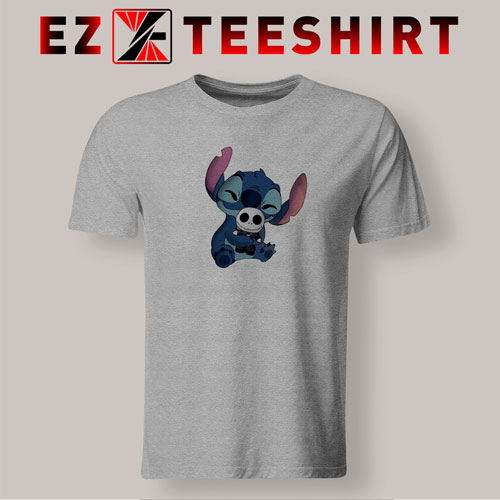 Stitch Hug Jack Skeleton T-Shirt