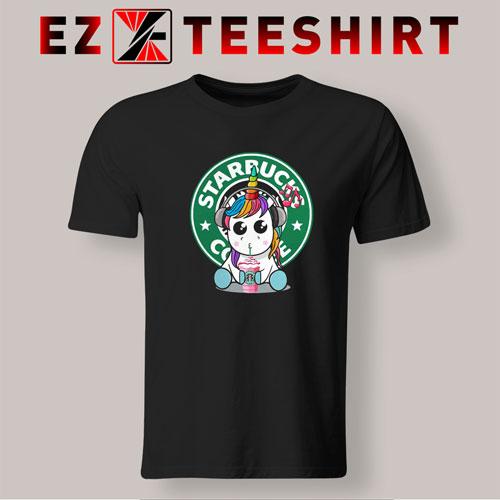 Unicorn Drick Starbucks Coffee T-Shirt