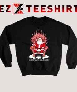 Santa Candy Cane Throne Sweatshirt