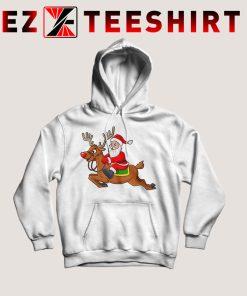 Santa Claus Riding Reindeer Hoodie
