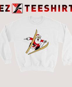 The Skier Santa Sweatshirt 247x296 - EzTeeShirt Ezy Buy Clothing Store